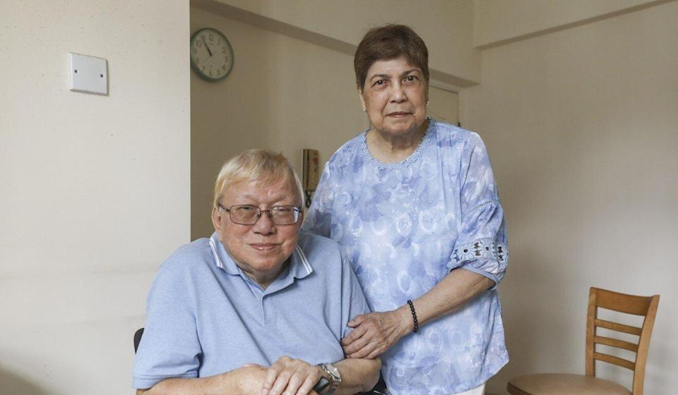 Muriel Elaine Bux and Abdul Rahman Bux do not want to leave Hong Kong as the city has many benefits for elderly people. Photo: Xiaomei Chen