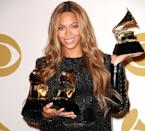 "<p>The queen added to her already extensive Grammy collection with three more awards in 2015. She won Grammys for best R&B performance and best R&B song for ""Drunk In Love,"" and an award for best surround sound album for her self-titled album. </p> <p>She was also nominated for album of the year, best urban contemporary album, and best music film.</p> <p><strong>Beyoncé's Grammy Tally: </strong>20</p>"