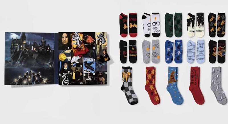 Harry Potter Hogwarts crest socks (Photo: Target)