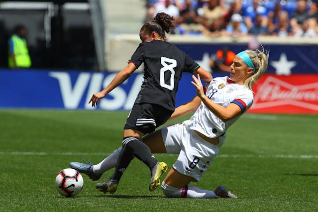 Julie Ertz is the USWNT's nominal No. 6, but she might drop back in the formation again if need be. (Getty)