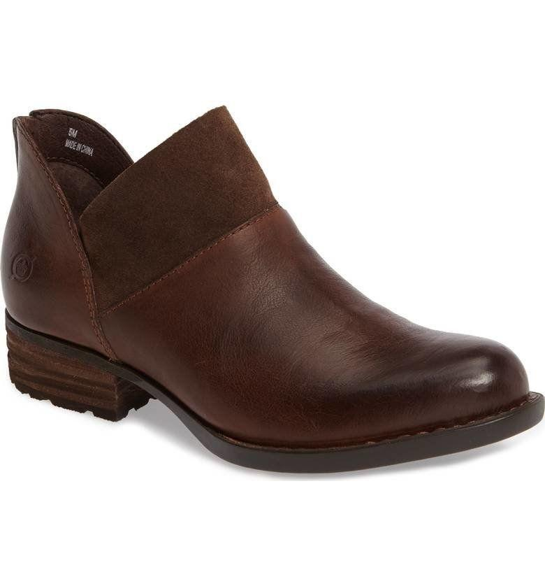 "35% off from $140. Get it <a href=""https://shop.nordstrom.com/s/born-karava-bootie-women/4598276?origin=category-personalizedsort&fashioncolor=DARK%20BROWN%20LEATHER"" target=""_blank"">here</a>."