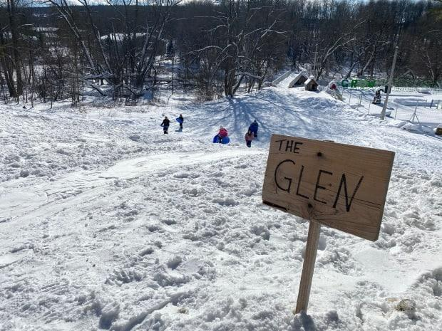"""Nine-year-old Skyler Shaw's preferred run toboggan is called 'The Glen,' which she likes because she can go """"medium fast"""" without too many bumps and jumps."""