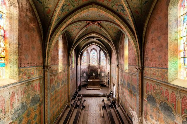 <p>Former school chapel in France. (Photo: James Kerwin/Caters News) </p>