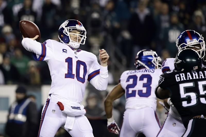 buy online 73965 55efb Giants fail to earn playoff bid in loss to Eagles, as ...