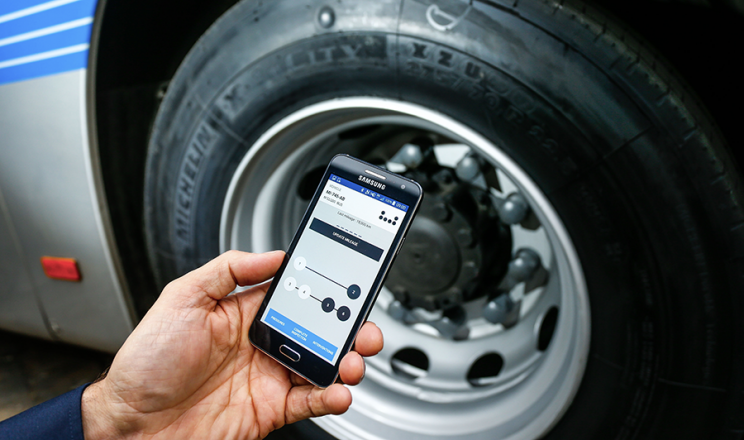 Michelin is embedding sensors into its tires for trucking measurements.