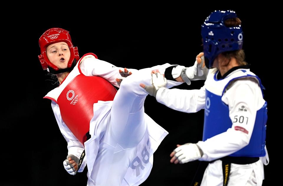 Lauren Williams, left, had to settle for silver (Martin Rickett/PA) (PA Wire)
