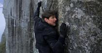 <p>Tom Cruise's biggest enemy in this six-film, 25-year-old franchise is gravity, and Cruise is undefeated. He's climbed the world's tallest tower (with magnetic gloves!), skydived through a lightning storm, clung to the side of a flying plane, and climbed a rock face without any equipment.</p>