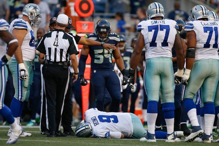 The Cowboys will open the season as they ended 2015, without Tony Romo. (Photo by Otto Greule Jr/Getty Images)