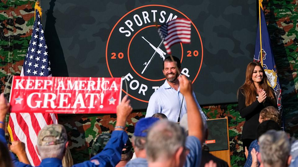 Mandatory Credit: Photo by Preston Ehrler/SOPA Images/Shutterstock (10744099g)Donald Trump Jr, and Kimberly Guilfoyle attend the Sportsmen for Trump Launch in Coplay.