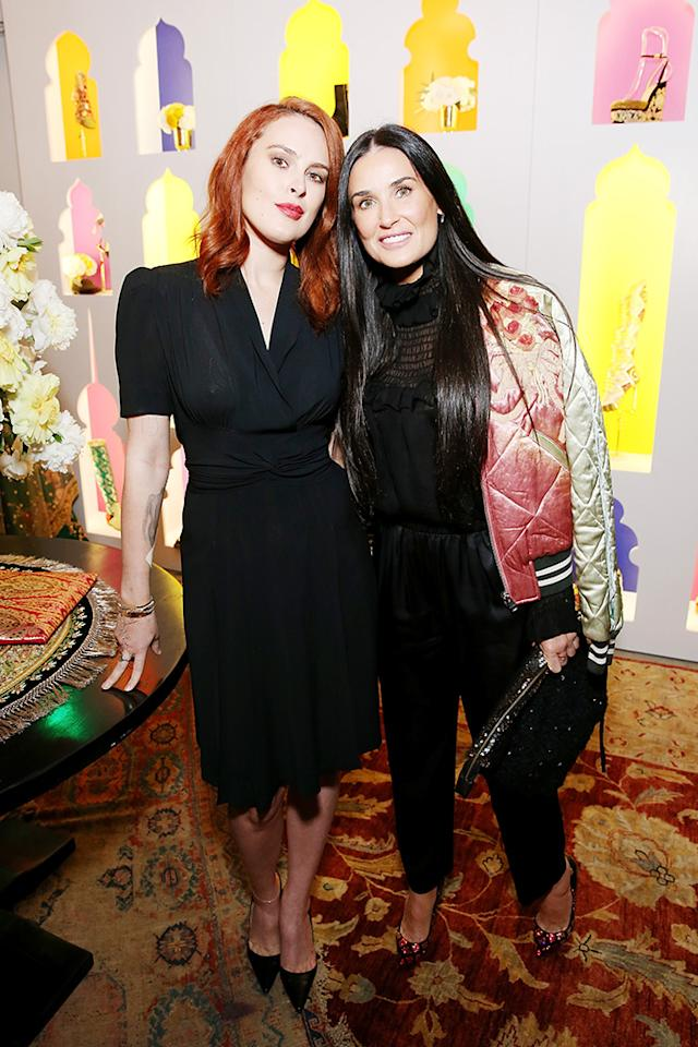 <p>The mother-daughter duo looked more like sisters as they attended the launch of Christian Louboutin's capsule collection with Sabyasachi on Thursday in Los Angeles. (Photo: Phillip Faraone/Getty Images for Christian Louboutin) </p>