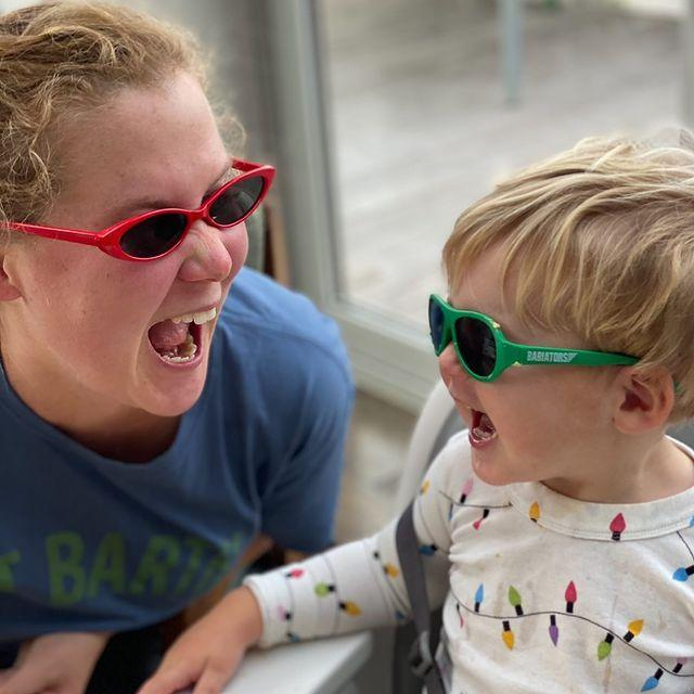 """<p>The comedian and actress had a smile-filled day with her son Gene. """"Mother's Day but make it fashion,"""" Schumer said of the pair with their sunglasses.</p>"""