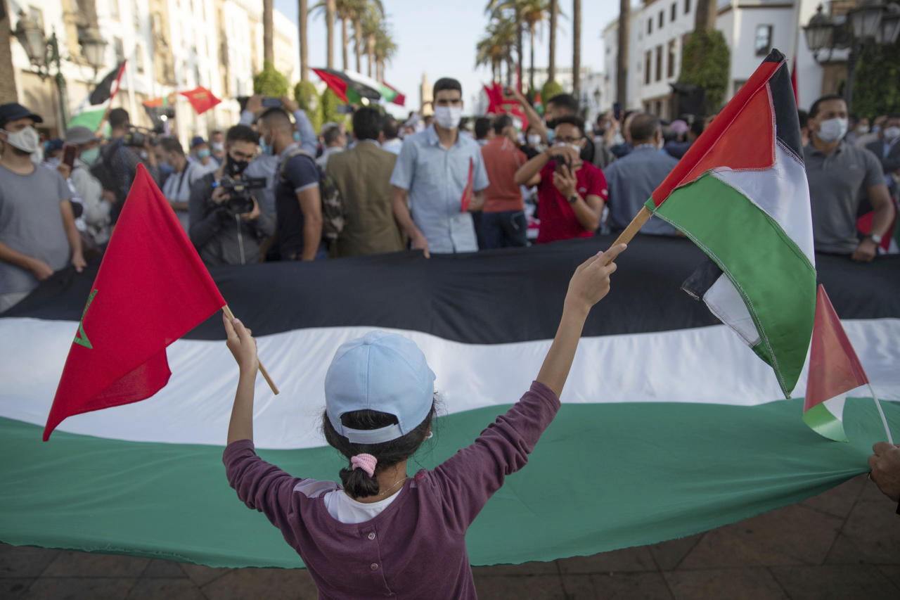 Moroccans protest Arab nations normalizing ties with Israel - yahoo