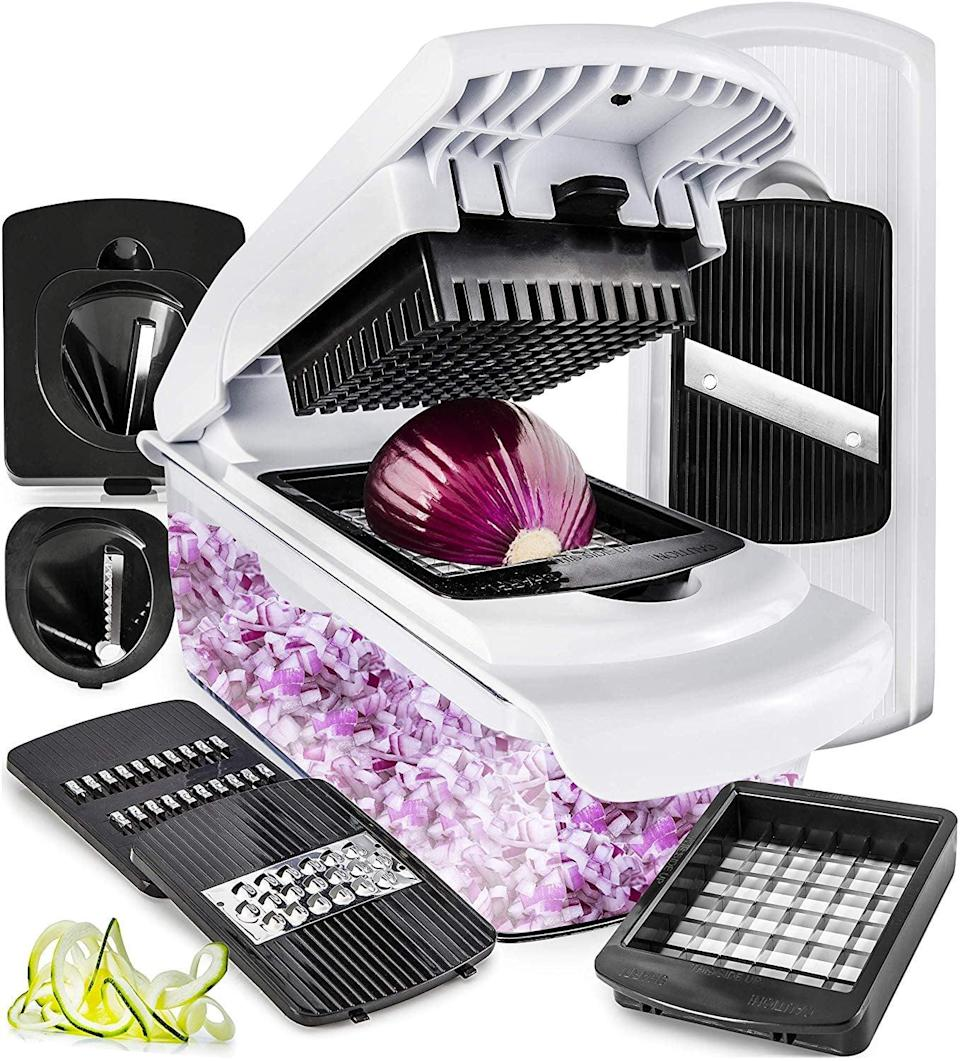 <p>Chopping just about everything will be a breeze with this <span>Vegetable Chopper Mandoline Slicer Dicer</span> ($30).</p>
