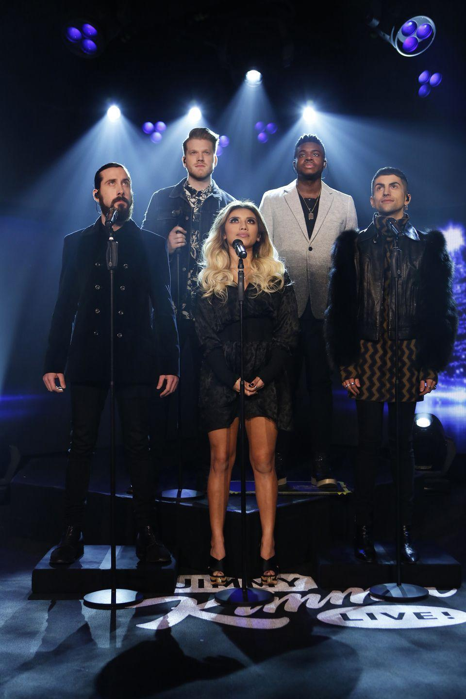 """<p>Opt for a more modern take on this holiday classic with this version by the talented a cappella group Pentatonix, which won NBC's a cappella competition show <em>The Sing-Off </em>in 2011.</p><p><a class=""""link rapid-noclick-resp"""" href=""""https://www.amazon.com/O-Holy-Night/dp/B00KAYYOQC/?tag=syn-yahoo-20&ascsubtag=%5Bartid%7C10055.g.2680%5Bsrc%7Cyahoo-us"""" rel=""""nofollow noopener"""" target=""""_blank"""" data-ylk=""""slk:AMAZON"""">AMAZON</a> <a class=""""link rapid-noclick-resp"""" href=""""https://go.redirectingat.com?id=74968X1596630&url=https%3A%2F%2Fitunes.apple.com%2Fus%2Falbum%2Fo-holy-night%2F877653086&sref=https%3A%2F%2Fwww.goodhousekeeping.com%2Fholidays%2Fchristmas-ideas%2Fg2680%2Fchristmas-songs%2F"""" rel=""""nofollow noopener"""" target=""""_blank"""" data-ylk=""""slk:ITUNES"""">ITUNES</a></p>"""