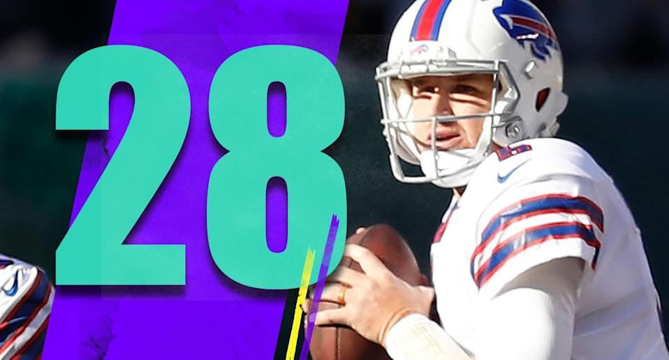 <p>Josh Allen is on track to return as the Bills' starting quarterback this week. That's good news for the Bills, and good news for Matt Barkley too. He's on a one-year deal, and it wouldn't be the worst thing for him to have one very good game against the Jets, then hit free agency again. (Matt Barkley) </p>