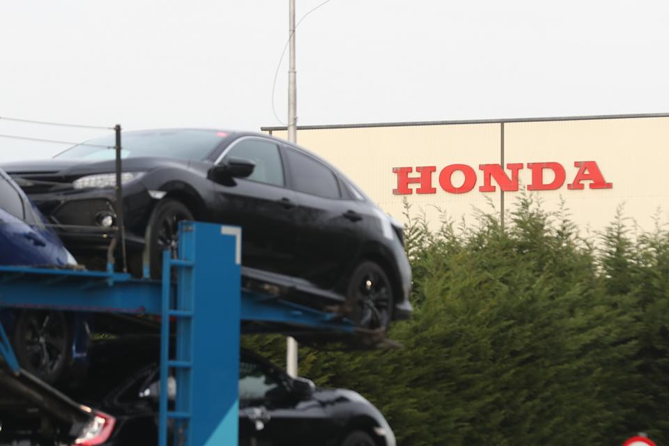 The Japanese firm had been building 160,000 Honda Civics at the plant — its only car factory in Europe. Photo: Steve Parsons/PA via Getty