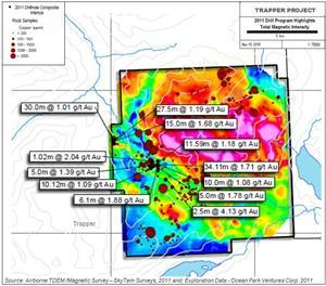 Trapper Magnetics, Copper Rock Geochemical and Drilling Results