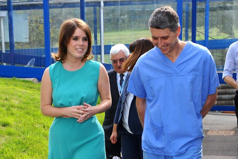 Princess Eugenie with spinal surgeon Jan Lehovsky: Getty Images