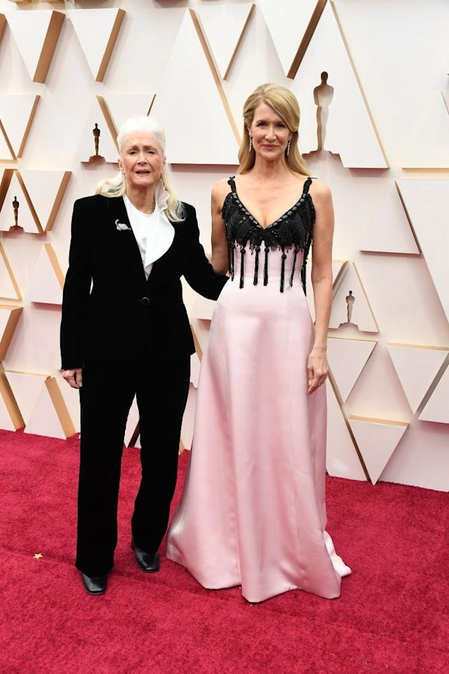<p>Dern, who is nominated for her role in <em>Marriage Story</em>, brought her mom on the red carpet.<em></em></p>