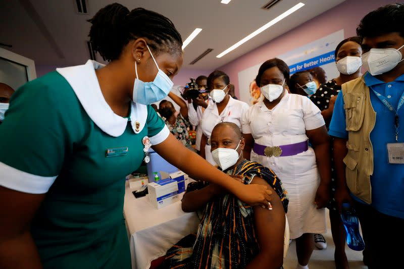 FILE PHOTO: Ghana launches COVID-19 vaccination campaign