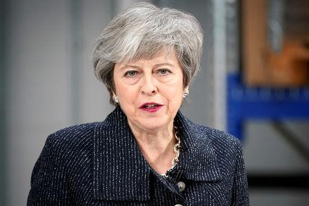 Prime Minister Theresa May speaks on Brexit ahead of next week's vote in Parliament on her revised Brexit deal in Grimsby