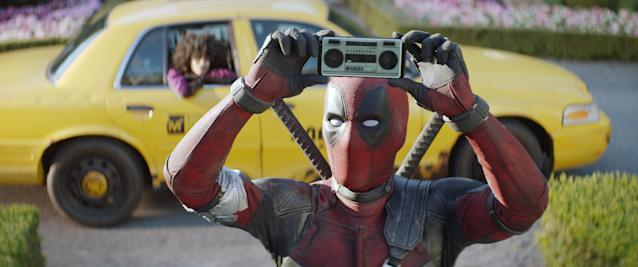 Deadpool pulls a <em>Say Anything</em> in <em>Deadpool 2</em>. (Photo: Twentieth Century Fox Film Corp./Courtesy Everett Collection)