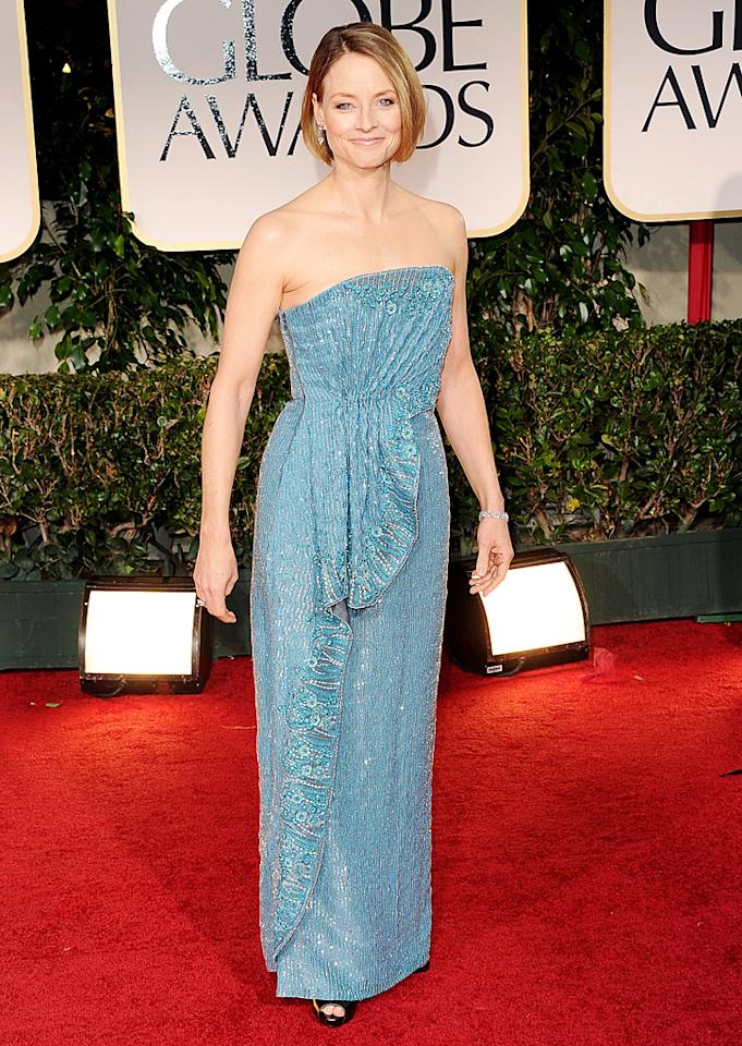 Jodie Foster arrives at the 69th Annual Golden Globe Awards in Beverly Hills, California, on January 15