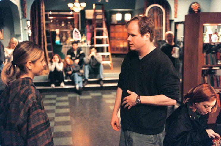 Gellar and Joss Whedon on set (Photo by Robert Gauthier/Getty Images)