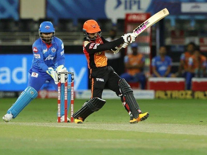 Wriddhiman Saha played a brilliant knock of 87 runs off just 44 balls and helped SRH post a mammoth score of 219