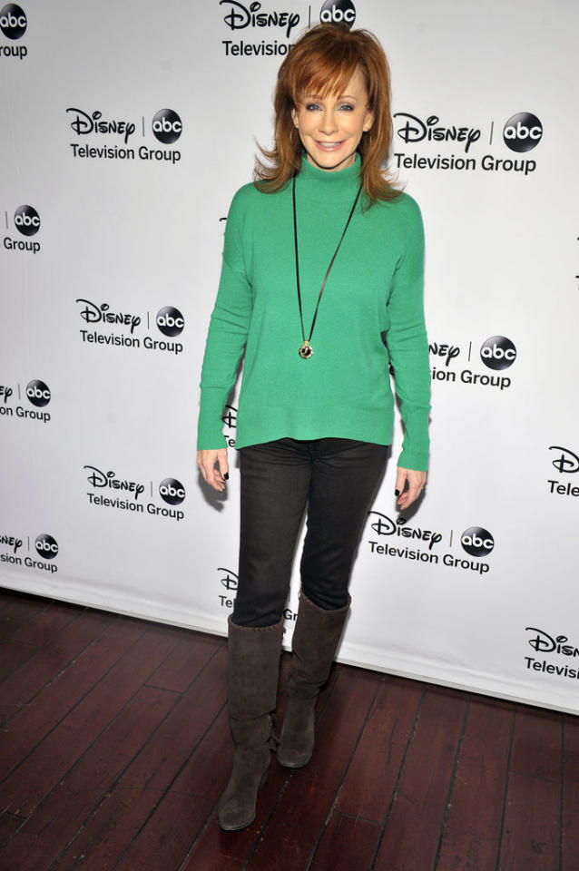 "Reba (""Malibu Country"") attends the Disney ABC Television Group 2013 TCA Winter Press Tour at The Langham Huntington Hotel and Spa on January 10, 2013 in Pasadena, California."