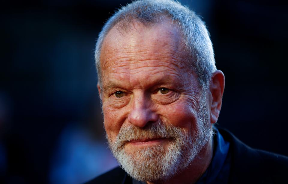 """Terry Gilliam arrives for the screening of """"The Irishman"""" during the 2019 BFI London Film Festival at the Odeon Luxe Leicester Square in London, Britain October 13, 2019. REUTERS/Henry Nicholls"""