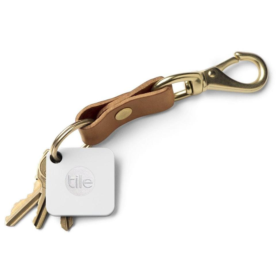 <p>Ideal for the guy who loses everything, this <span>Tile Mate Anything Finder</span> ($18) easily attaches to his keys (or other devices) and can be tracked from a smartphone. </p>