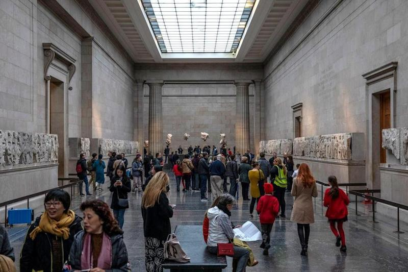 Sections of the Parthenon Marbles also known as the Elgin Marbles are displayed at The British Museum (Getty Images)