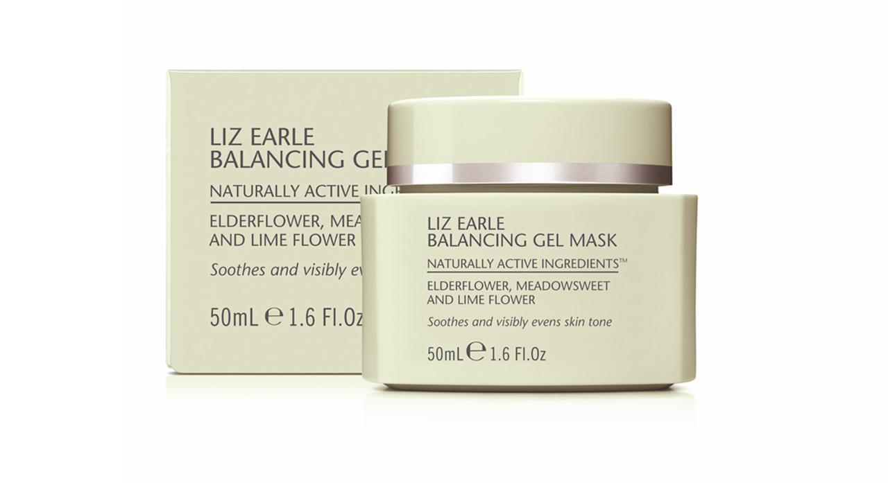 "<p>Liz Earle's <a rel=""nofollow"" href=""https://uk.lizearle.com/product/exfoliator-and-masks/balancing-gel-mask"">new gel mask</a> formula is great for de-puffing and revitalising the skin. Top tip: keep it in the fridge for a super cooling mask. It's the perfect antidote for the heatwave. <br /></p>"