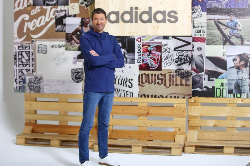 FILE PHOTO: Adidas CEO Rorsted poses before the company's annual news conference in Herzogenaurach