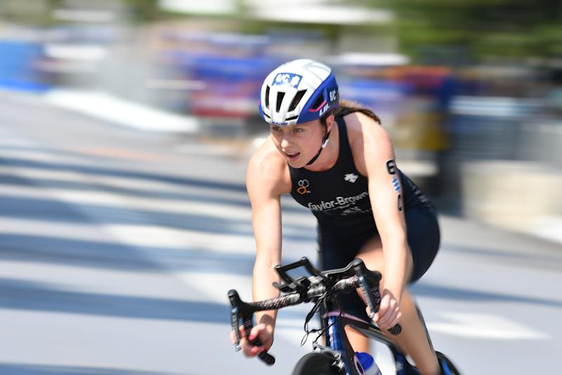 Triathlete Georgia Taylor-Brown in action