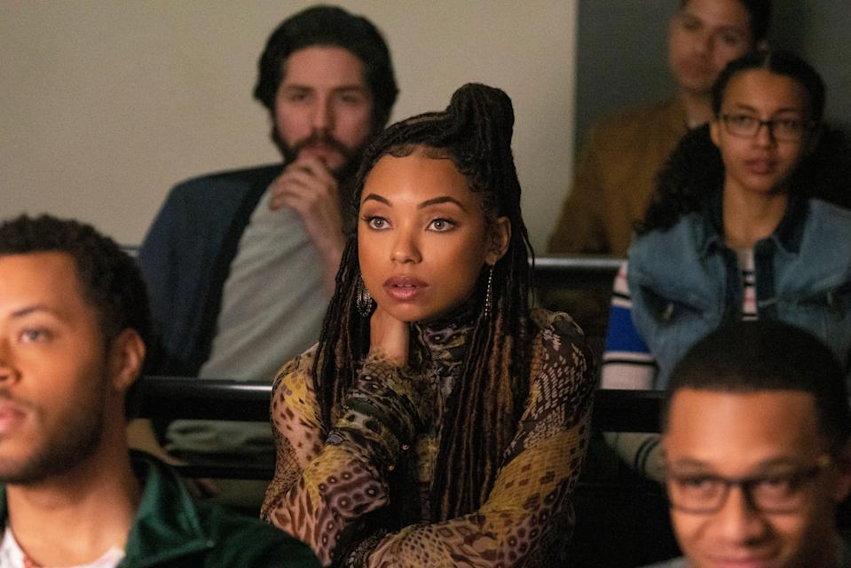 """<p><em>Dear White People</em>—originally a movie starring Tessa Thompson in a role now played by Logan Browning—follows a group of Black students at a predominantly white (fictional) Ivy League school. It's funny, cutting, insightful, and compelling. Add it to your queue, stat.</p> <p><a href=""""https://www.netflix.com/title/80095698"""" rel=""""nofollow noopener"""" target=""""_blank"""" data-ylk=""""slk:Available to stream on Netflix"""" class=""""link rapid-noclick-resp""""><em>Available to stream on Netflix</em></a></p>"""