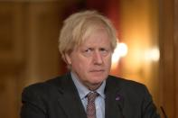Britain's PM Johnson holds virtual coronavirus briefing in London