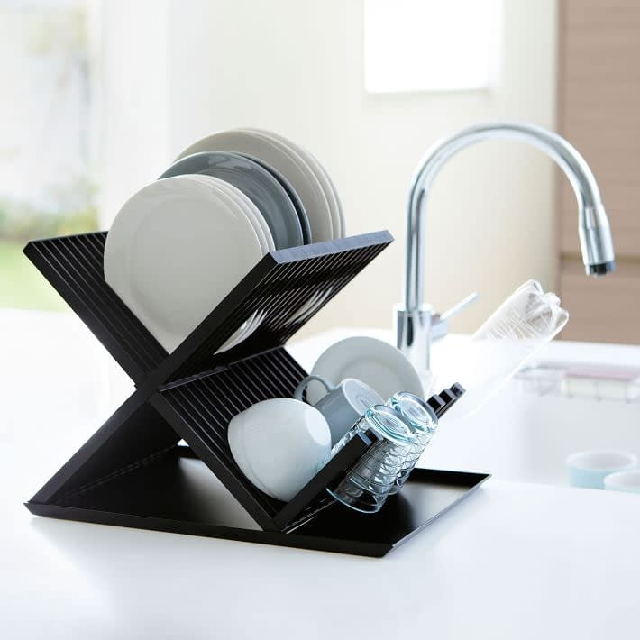 <p>This <span>Yamazaki X-Shaped Dish Drainer Rack</span> ($38) is stylish and saves space.</p>