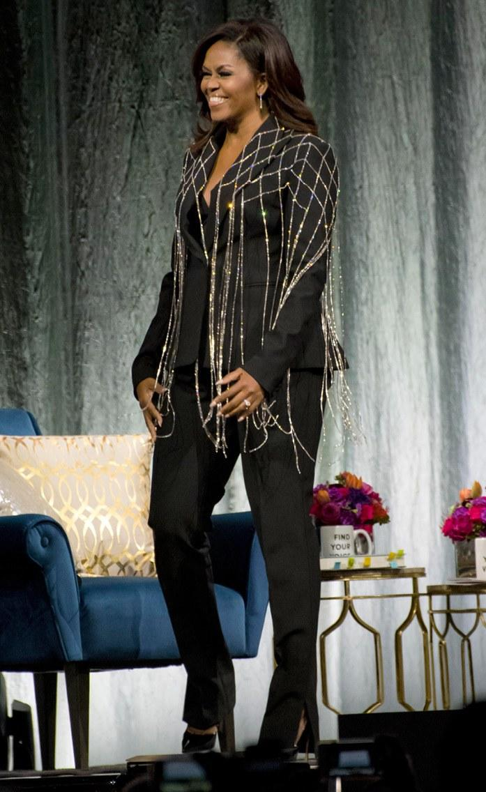 Michelle Obama in Area during her 2019 book tour.