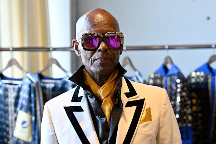 Designer Dapper Dan attends the preview for his Capsule Collection during New York Fashion Week: The Shows at Spring Studios on September 12, 2021 in New York City. (Photo by Roy Rochlin/Getty Images for IMG Fashion)
