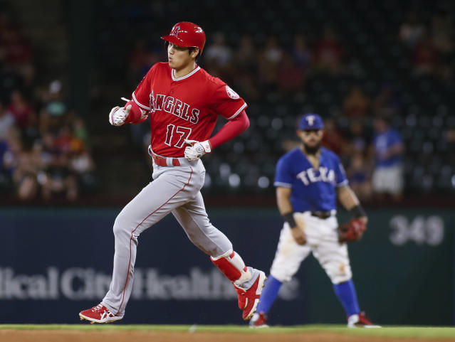 Shohei Ohtani homered twice on Wednesday for the Los Angeles Angels. (AP)
