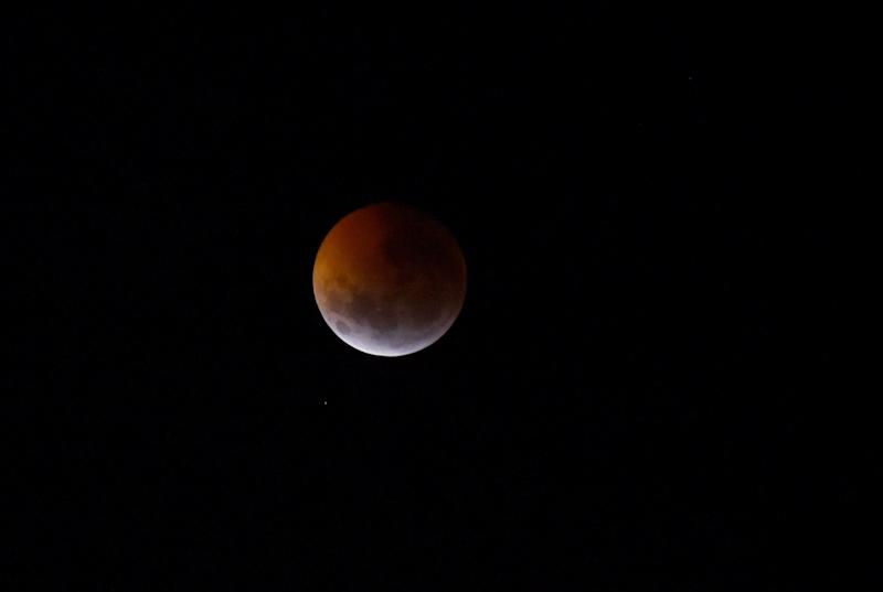 The total lunar eclipse in Encarnacion, Paraguay, on Jan. 21.