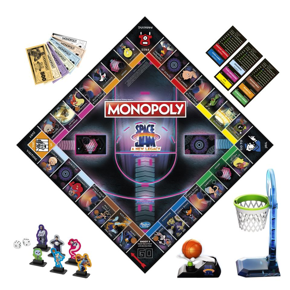 A closer look at 'Monopoly: Space Jam A New Legacy Edition' (Photo: Hasbro)