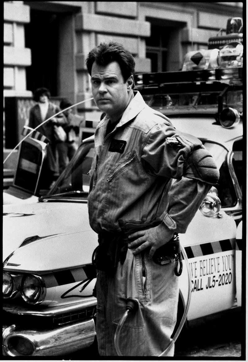 Actor Dan Aykroyd while working on the film Ghostbusters II . (Photo by Robin Platzer/The LIFE Images Collection via Getty Images/Getty Images)