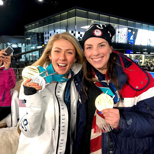 <p>hilaryknight: Woot woot!! #Olympics #Gold #teamusa<br> (Photo via Instagram/hilaryknight) </p>