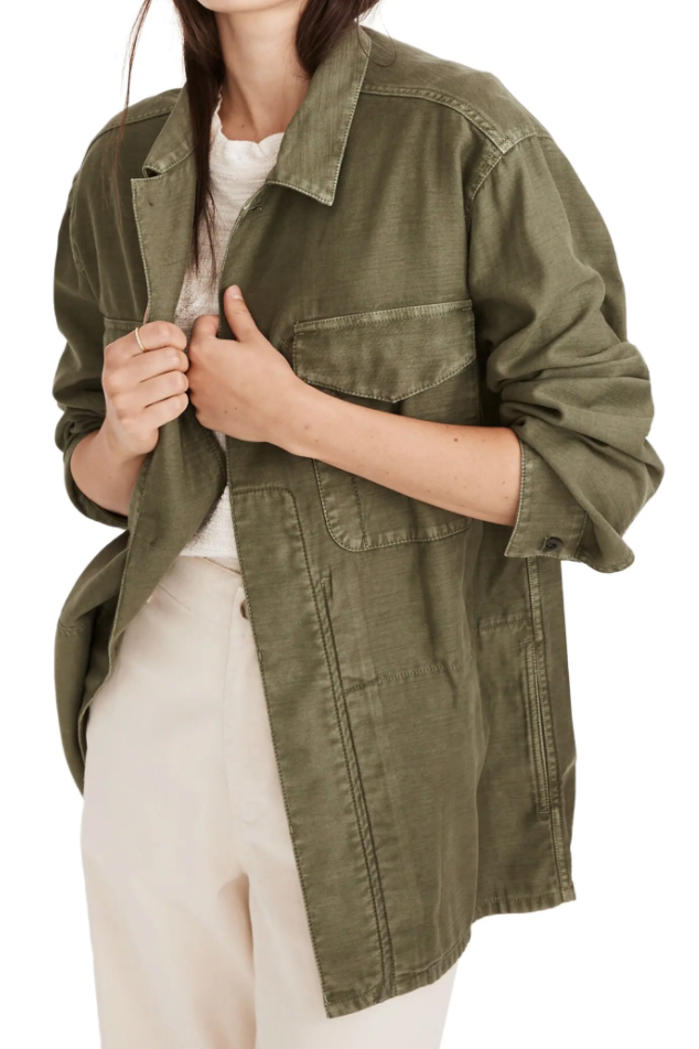 Madewell Military Shirt Jacket