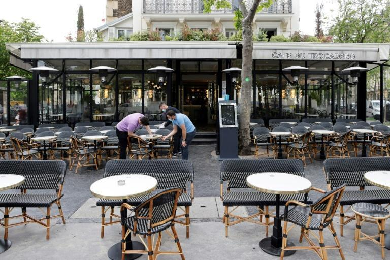 Paris cafes have been sprucing up their terraces ahead of the partial reopening