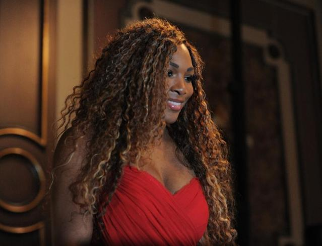 Tennis star Serena Williams of the U.S poses during a meeting with the media in Istanbul, Turkey, Sunday, Oct. 20, 2013. World's top tennis players will compete in the TEB BNP Paribas WTA Championships in Istanbul, Oct. 22-27.(AP Photo)