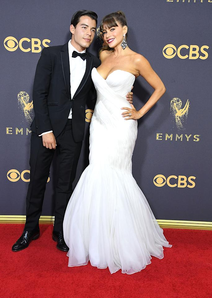 <p>When Sofia Vergara showed up to Sunday night's Emmy Awards, she wasn't on the arm Joe Manganiello — instead, she brought her 25-year-old son Manolo, who said he's often invited to red carpets when Manganiello (who's currently filming a movie in New York) is busy. </p>